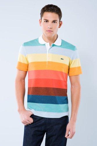 Short Sleeve Rainbow Multi-color Pique Polo