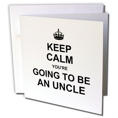Gc_194462_2 Inspirationzstore Typography - Keep Calm Youre Going To Be An Uncle - Future Uncle - Family Text Gift - Greeting Cards-12 Greeting Cards With Envelopes