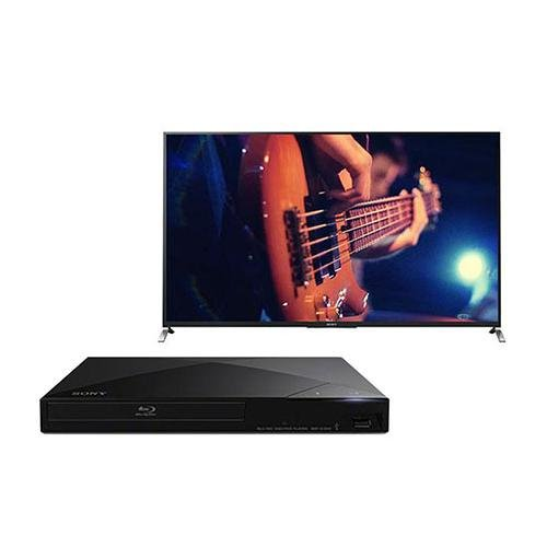 "Sony W950B 64.5"" Full Hd 1080P Smart 3D Tv, - Bundle With Sony Bdp-S5200 3D Blu-Ray Disc Player,"