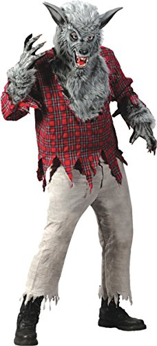 Fun World Costumes Grey Werewolf Adult (Homemade Werewolf Costume)