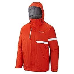 Columbia Men\'s Fusion Exact Jacket, State Orange, Medium