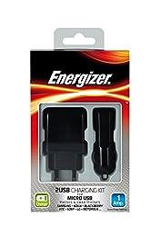 Energizer 2 USB Charging Kit 1 Amp black