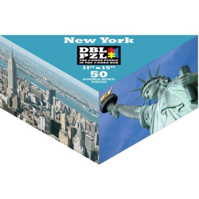 50-Piece Double 2-Sided Jigsaw Puzzle In Triangular Box - New York City [Toy]