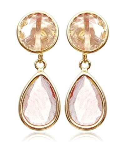 Silver Luxe Pendientes Duo, Rosé