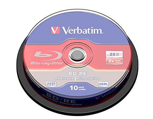 Verbatim 43694 BD-RE couche unique 2X surface anti rayures 25 Go Spindle de 10