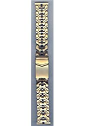 Hadley-Roma 20mm Gold Plated Metal Watch Band