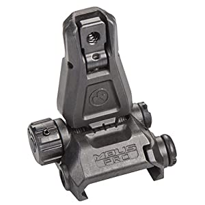 Magpul Industries MBUS Pro Back-Up Rear Sight, Black by MAGPUL INDUSTRIES CORPORATION