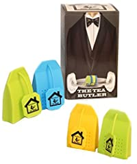 Tea Infuser 4 Pack Butler in the Home Silicone Tea Bag Water Infusers Strainer Loose Herbal Tea Leaf Filter in Blue Green and Yellow