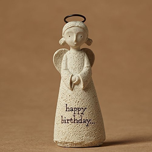 Enesco Bless You Happy Birthday Mini Angel Figurine, 2.75-Inch