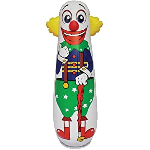 Old Style Clown Punching Bag - Inflatable Bounce Back Toy from JET CREATIONS INC