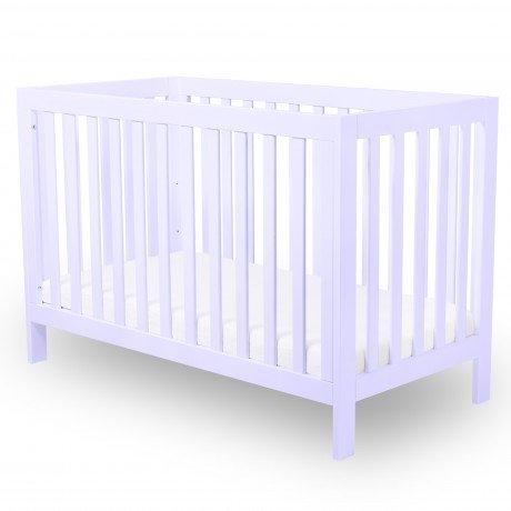 Alfred & Compagnie - Lit bébé évolutif 60x120 hêtre massif lilas