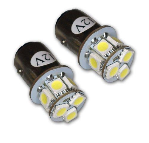 TuningPros LEDFS-1157-WS9 Front Signal LED Light Bulbs 1157, 9 SMD LED White 2-pc Set