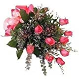 Little India Beautiful Fresh Pink Roses Gift (Bunch Of 12)