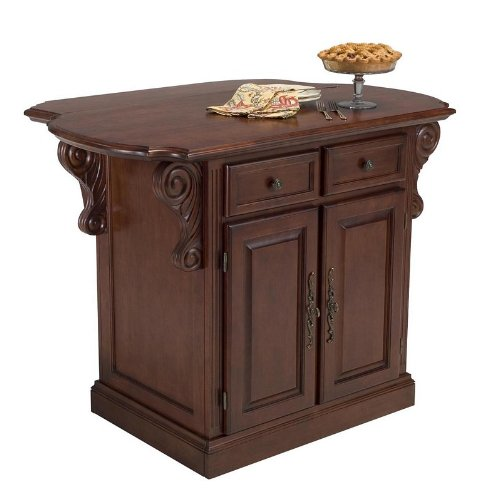 Cheap Kitchen Island with Drop Leaf in Cherry Finish (VF_HY-5005-94)