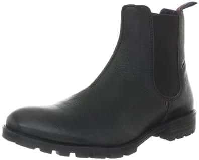 Tommy Hilfiger CARLOS 8A FM56814749, Herren Chelsea Boots, Schwarz (BLACK/SHALE 990), EU 40