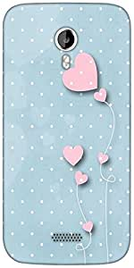 Snoogg Pink balloons blue dots Designer Protective Back Case Cover For Micromax A116