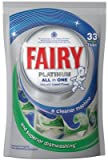FAIRY PLATINUM ALL IN ONE DISHWASHER TABLETS WITH LIQUID POWDER 33PK