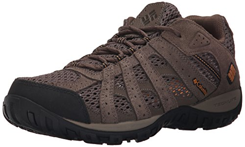 Columbia Men's Redmond Breeze Trail Shoe, Mud/Canyon Gold, 11 D US