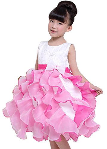 Generic Personalized Fashion Cotton Puff Flower Girl Wedding Dress