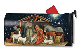 Holy Night Christmas Magnetic Mailbox Cover