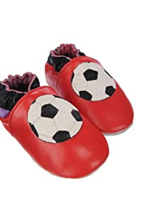 Pre Shoes Soft Leather Baby Shoes Footy Star (12 - 18 Months)