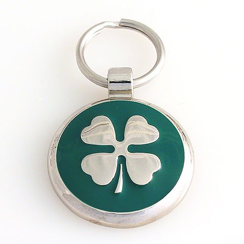 Pet ID Tag - Clover - Custom engraved cat and dog ID tags. Jewelry that ensures pet safety.
