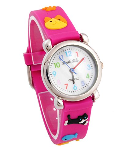 Kids ' watches and children's watches girls for cute cat quartz clock entrance / admission / graduation / graduation / child day gift picks capdase