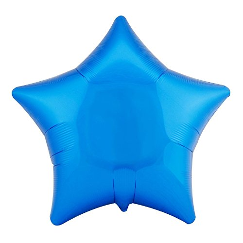 "Anagram International Star Foil-Flat-Balloon, 19"", Metallic Blue"