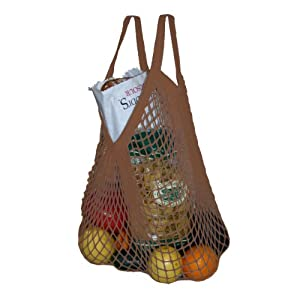 Simple Ecology Market String Bag - Chocolate Brown - Regular Handle