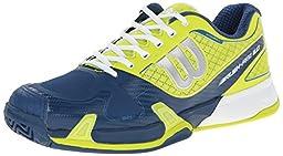 Wilson Men\'s Rush Pro 2.0 Tennis Shoe, Solar Lime/Pacific Teal/White, 8 M US
