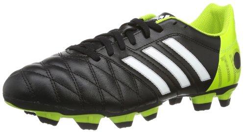 adidas - 11Questra Trx Fg Lea, Scarpe da Calcio Uomo, Nero ( Schwarz (BLACK 1 / RUNNING WHITE FTW / SOLAR SLIME)), 45 1/3 EU