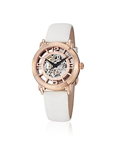 Stührling Women's Lady Winchester Legacy White/Rose 316L Surgical Grade Stainless Steel Watch