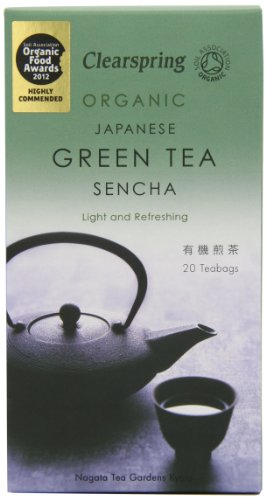 Clearspring Organic Japanese Sencha Green 20 Teabags (Pack of 3, Total 60 Teabags)