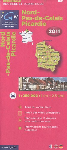 Nordpasdecalais Picardie R01 IGN Map (English and French Edition) (English, French and German Edition)