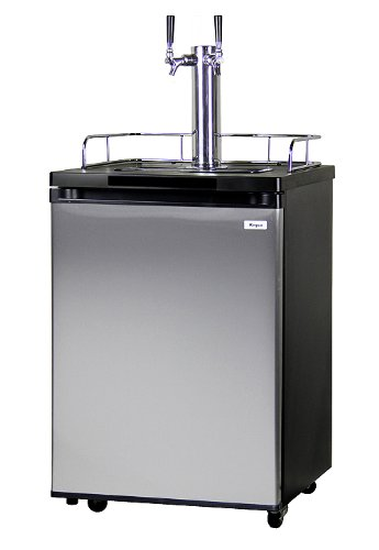 Kegco K209SS-2 Full Size Kegerator - Double Faucet - D System - Stainless Door