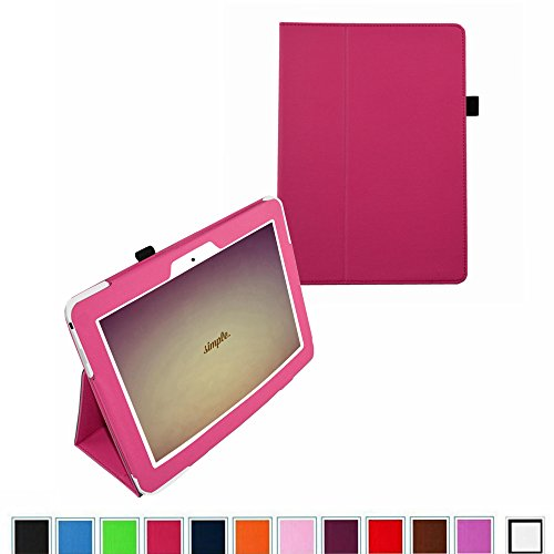 "Mama Mouth Slim Folio 2-Folding Case For 10.1"" Asus Transformer Pad Tf103C Android Tablet Pink"