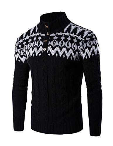 LIANIHK Uomo Moda Pullover lavorato a maglia con collo sciallato