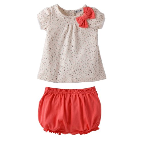 Little Hand Kids Girls Baby Cute Floral Print Coverall Suits Outfits Sets Tops+Pants 6-9M front-1066754