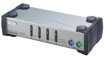 ATEN Master View KVM Switch PS/2, 4 ports, sans bloc secteur