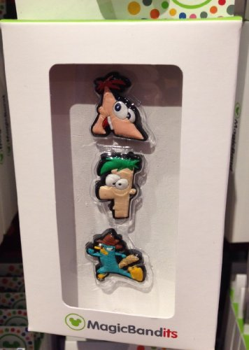 Disney Parks Phineas and Ferb Perry Platypus Magic Band Bandits Set of 3 Charms