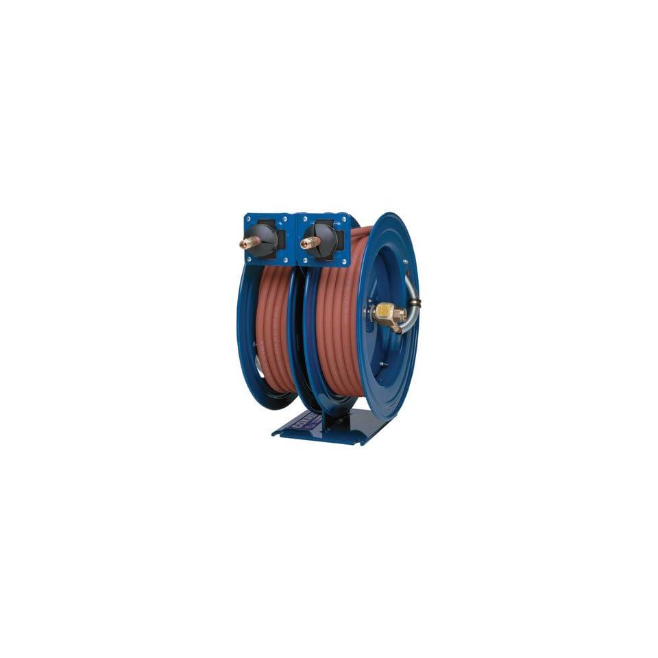 Coxreels C LP 125 125 Dual Purpose Spring Rewind Hose Reel for air/water 1/4 I.D., 25 hose each, 300 PSI