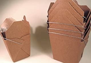 Brown Craft Chinese Take-out Favor Boxes - 50 Count
