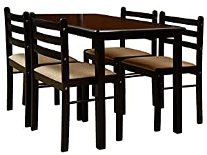 Nitraa augusta four seater dining table brown for Dining room tables on amazon