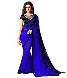 Shyam Creation Women Fancy Georgette saree (2057-BLUE)