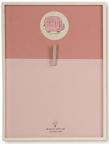 Tree By Kerri Lee Wooden Remember Board, Small, Pink