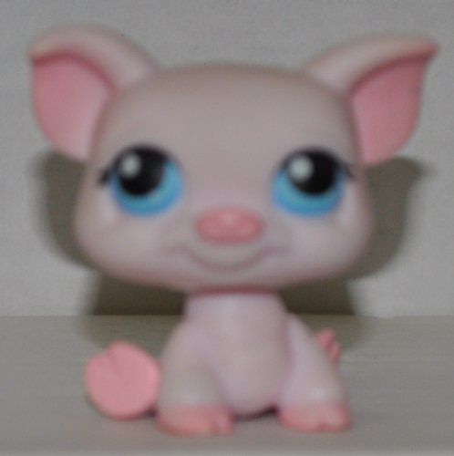 Pig #296 (Pink) - Littlest Pet Shop (Retired) Collector Toy - LPS Collectible Replacement Figure - Loose (OOP Out of Package & Print) - 1