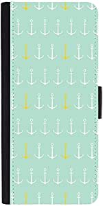 Snoogg Colourful Anchor Patterndesigner Protective Flip Case Cover For Samsun...