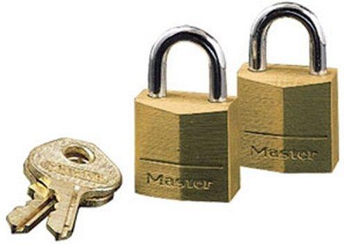 Master Lock 120T Solid Brass Padlocks, 3/4-inch body width, 2-Pack