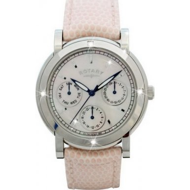Rotary Rls002407 Rocks Four Diamonds Pink Leather Strap Watch - Amazon UK