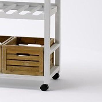 landhaus k chenwagen servierwagen mit weinregal us262. Black Bedroom Furniture Sets. Home Design Ideas